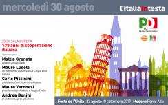 30 agosto 2017: 130 anni di cooperazione italiana