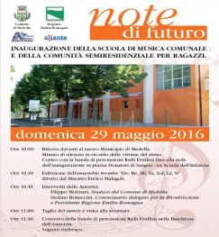 Inaugurazione della Comunità Semiresidenziale di Medolla