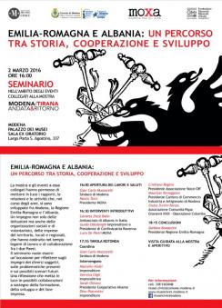 Marzo 2016 - Emilia Romagna - Albania, partecipiamo come relatori.