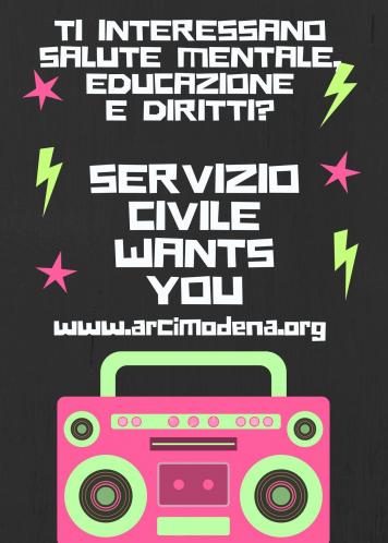 Servizio Civile? Vieni da noi!
