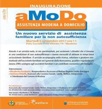 Nasce AMODO - servizio di assistenza domiciliare